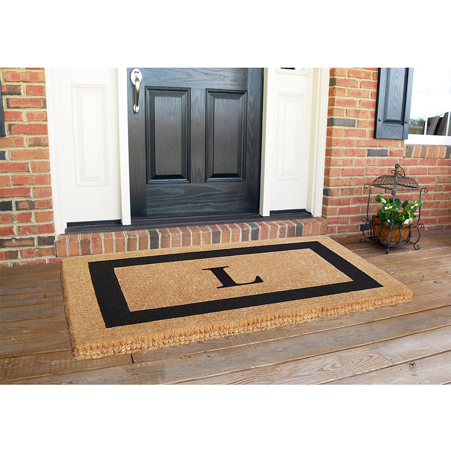 Heavy Duty 38 x 60 Coco Mat Black Single Picture Frame Monogrammed H