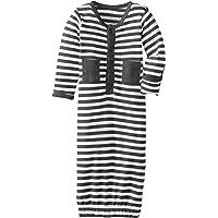 Lovedbaby Baby-Boys Organic Gown, Navy/White, 0-3m