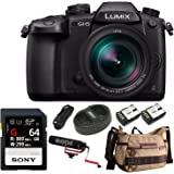 Panasonic LUMIX GH5 4K Mirrorless Camera w/ Lecia 12-60mm (DC-GH5LK) w/ 64GB UHS-II + VideoMic Go + Havana Bag
