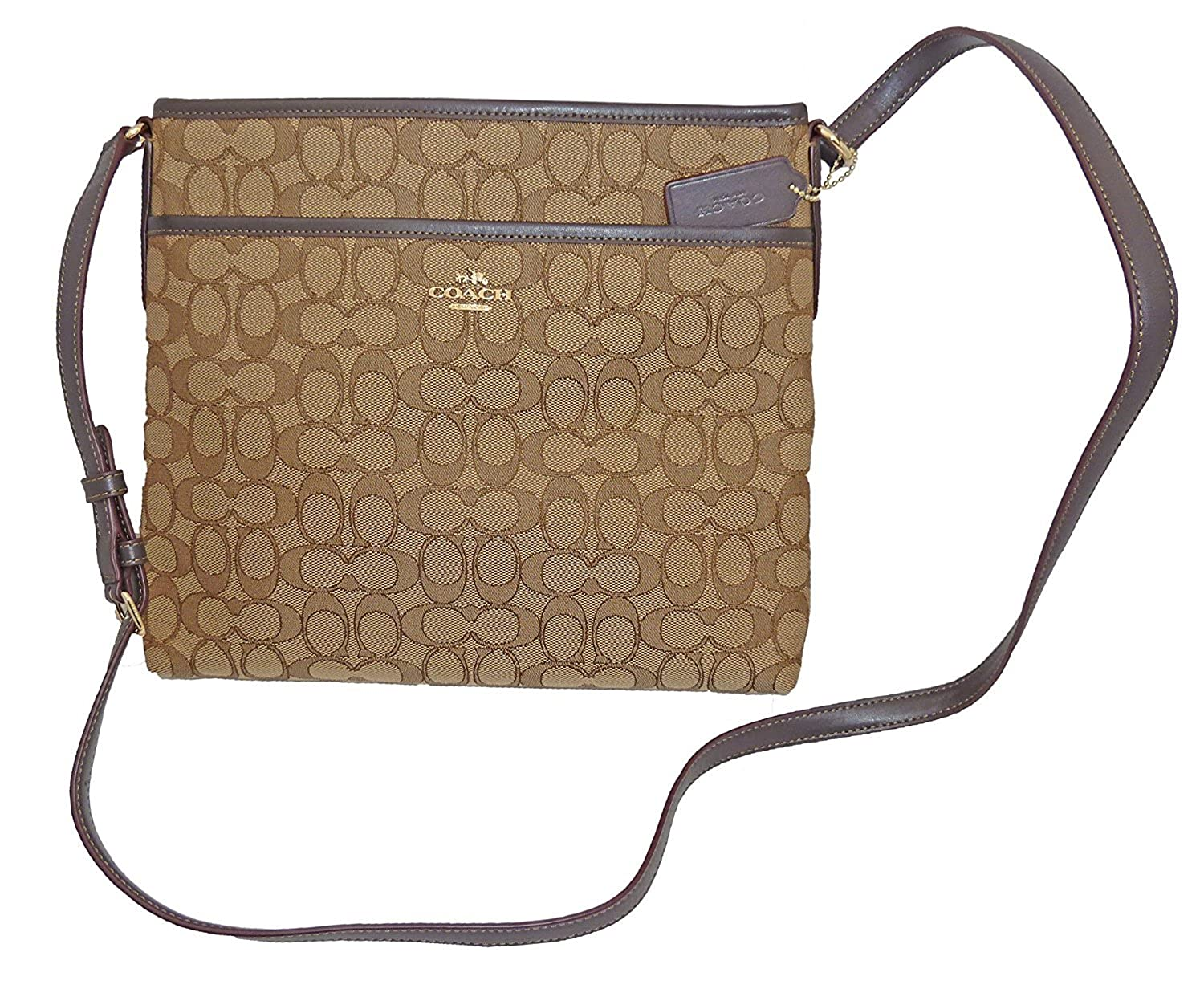 06d7b466 Coach File Bag In Outline Signature F58285