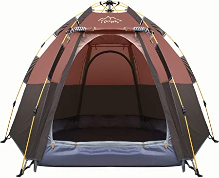 Toogh 3-4 Person Camping Tent Backpacking Tents Hexagon Waterproof Dome