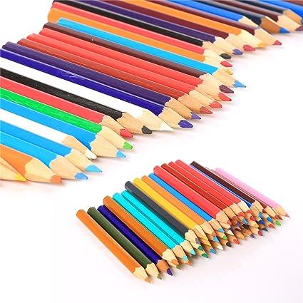 Mitad tamaño Pack de 48 lápices de colores Set – grande – pequeño Niños/Childs escuela color caso: Amazon.es: Oficina y papelería