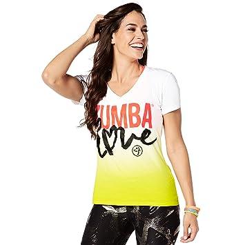 Zumba Fitness® Zumba Love Camiseta para Mujer con Escote en V, Mujer, Color Zumba Green, tamaño Small: Amazon.es: Deportes y aire libre