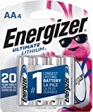 Energizer Ultimate Lithium AA Batteries, World's Longest Lasting Battery for High-Tech Devices (4 Each), Black…