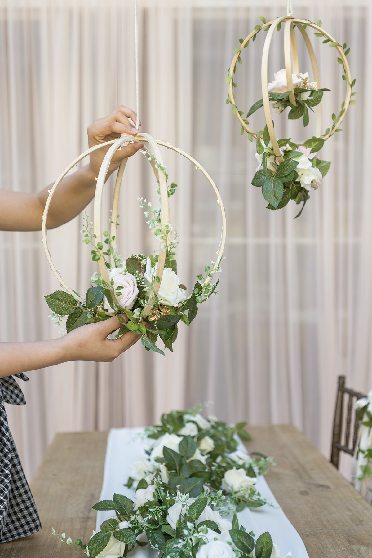 Lings-moment-Floral-Wreaths-Set-of-2-Blush-Rose-Artificial-Flower-Wreaths-for-Wedding-Party-Backdrop-Bridal-Shower-Baby-Shower-Hanging-Decor