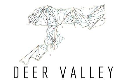Amazon.com: Deer Valley Poster, Deer Valley Ski Resort Poster, Deer on