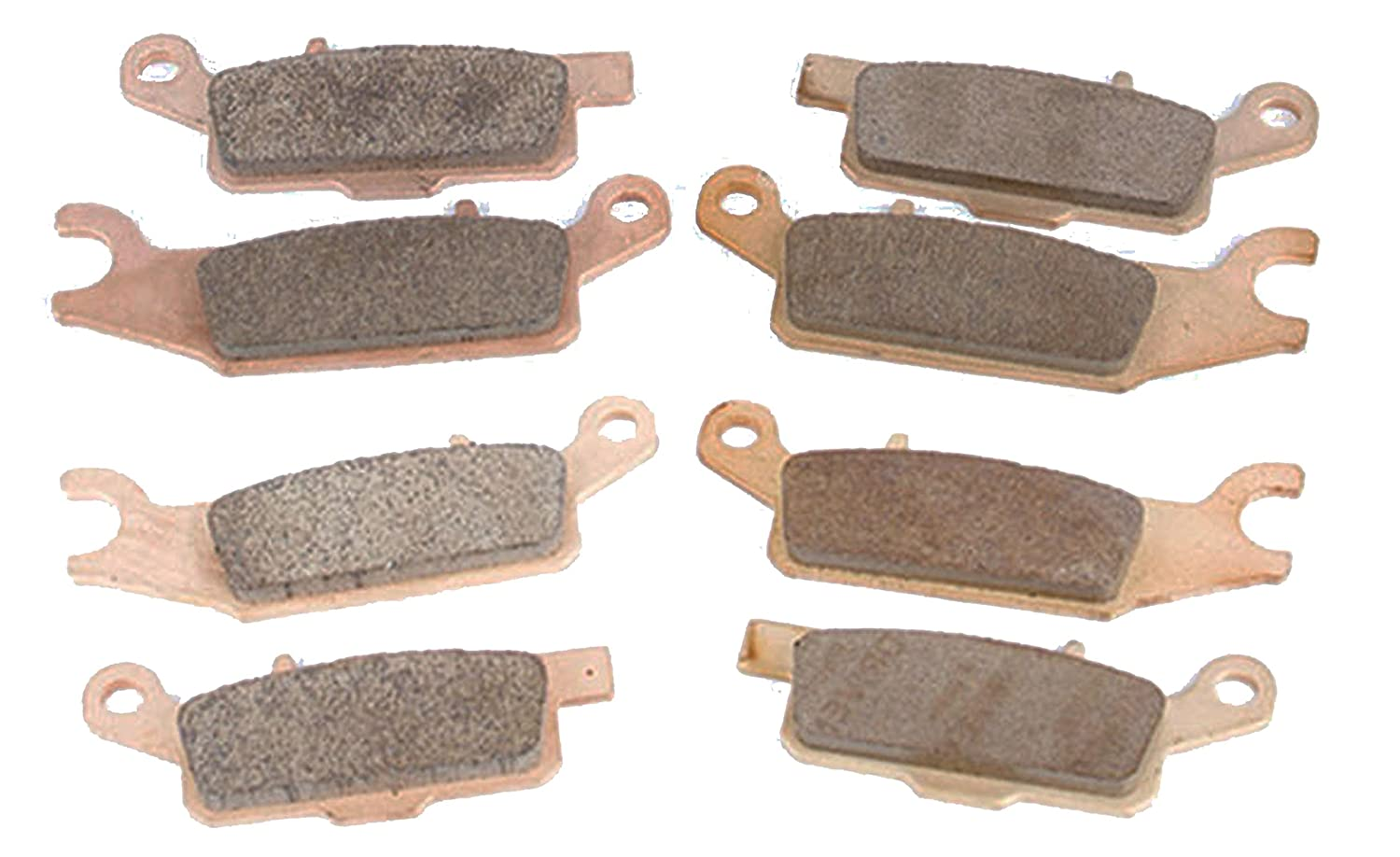Race Driven Front and Rear Sintered Metal Severe Duty Brake Pads for Yamaha Grizzly YFM550 550 YFM700 700