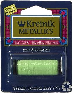 Kreinik Fine Metallic Braid #8 11yd-Glow-In-The-Dark Grapefruit F-052F