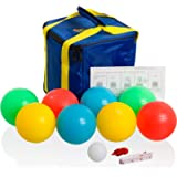 Playaboule Patented 4 Color Lighted Bocce Set V3 DLX Glow (LED) 107mm V4 Plugs