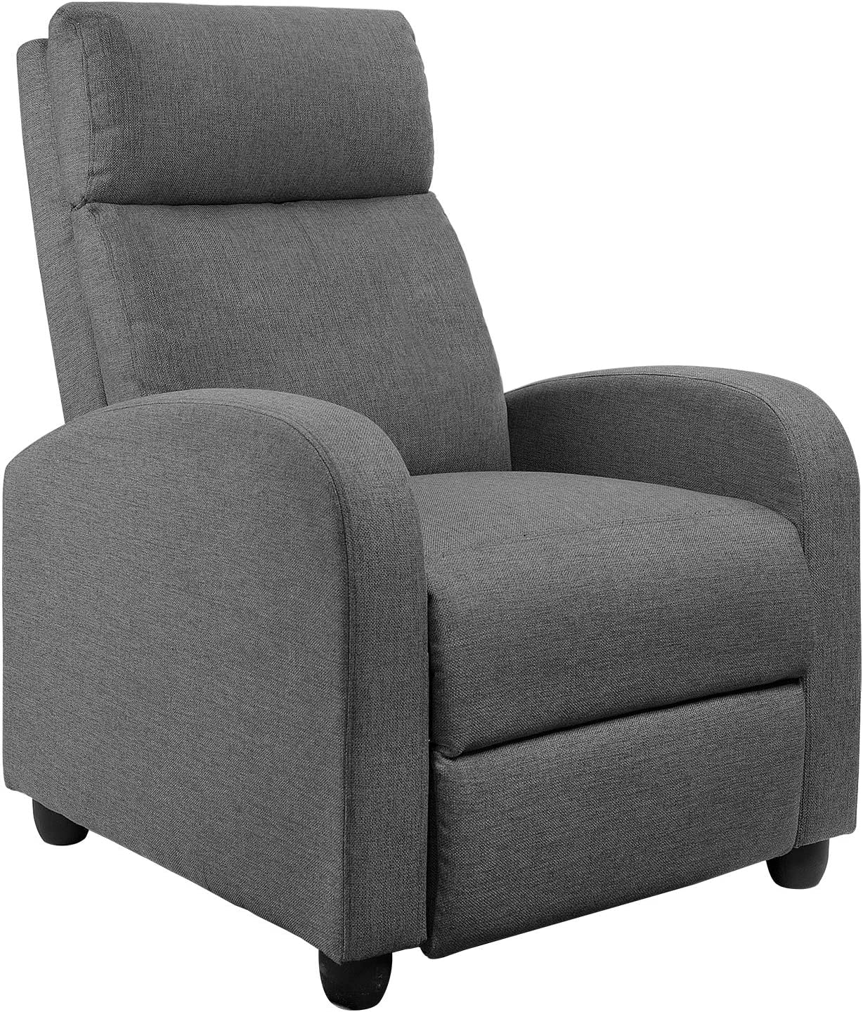 JUMMICO Fabric Recliner Chair Adjustable Home Theater Seating Single Recliner Sofa