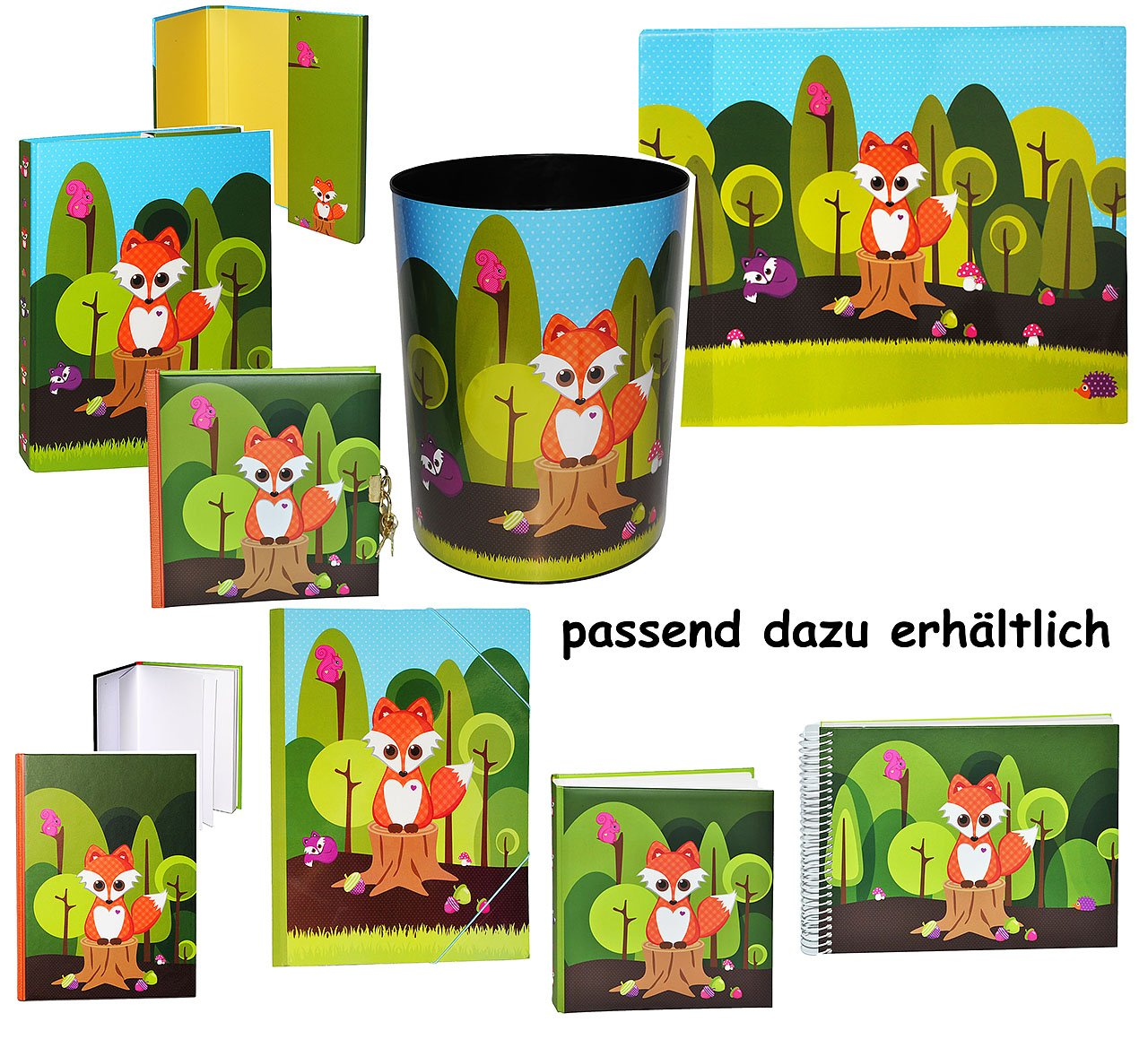 Unbekannt Ordner / Sammelmappe - für A4 - Fuchs - mit Namen - für Hefte, Zeitschriften, Zeichnungen ... / Ringbuch - Kinder Jungen Mädchen / Tiere - Mappe Ordnungsmappe Hefter Heftbox A 4 Kinderland