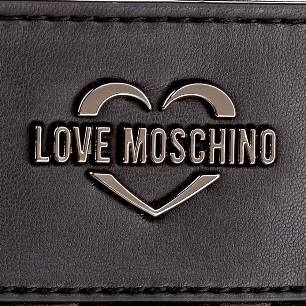 LOVE MOSCHINO Quilted Tote with Gold Metallic Logo Handles, Black by MOSCHINO (Image #5)