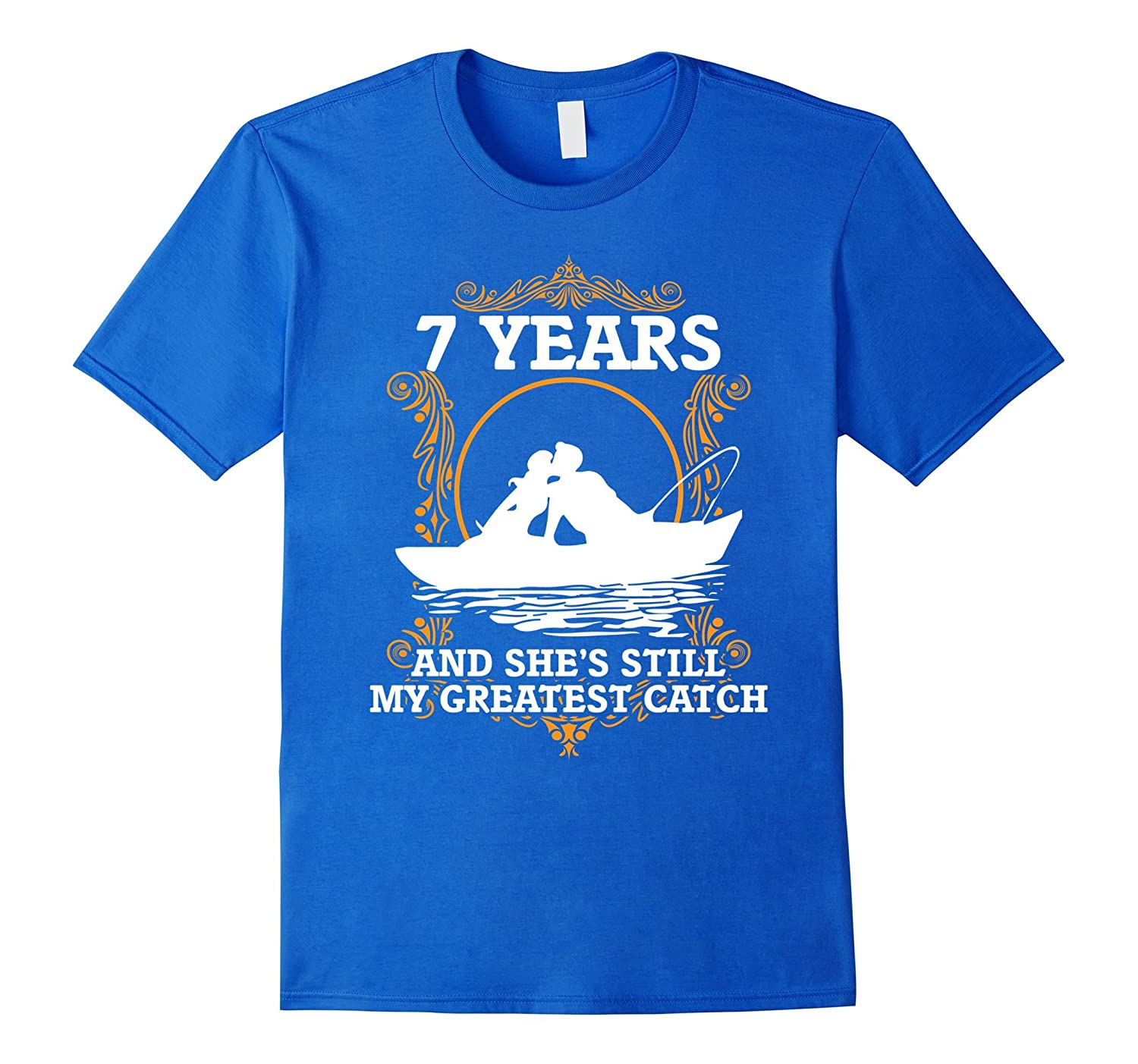 Funny Fishing Anniversary Gifts for Him 7 Year Anniversary-CL