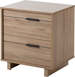 South Shore Fynn Collection Nightstand - Rustic Oak