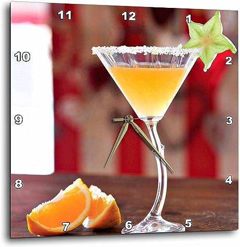 3dRose DPP_207859_2 The Rooibos Mandarin Margarita Wall Clock, 13 by 13