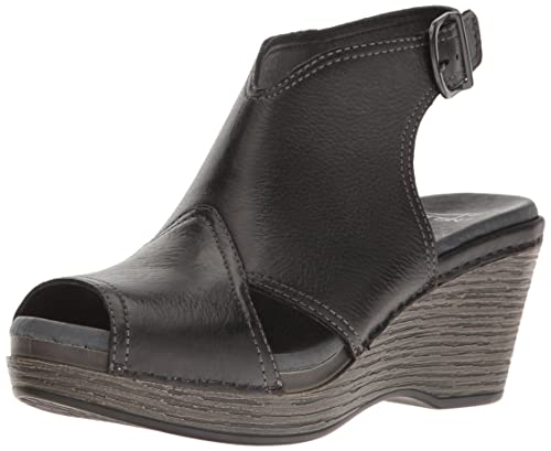 e508cddff65f Dansko Women s Vanda Ankle Bootie Black Distressed 36 EU 5.5-6 ...