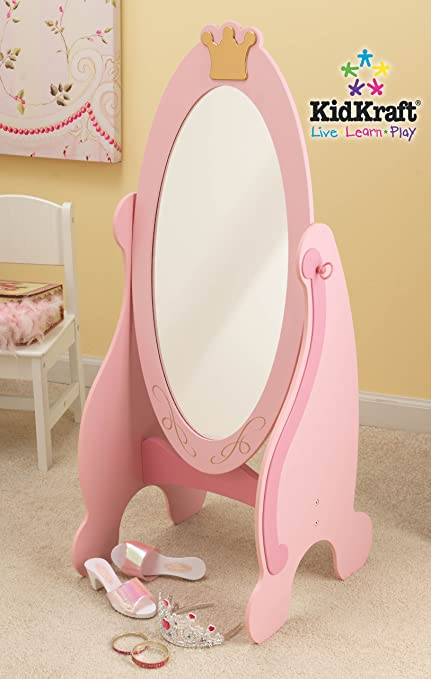 Amazon Com Kidkraft Princess Cheval Mirror Toys Games