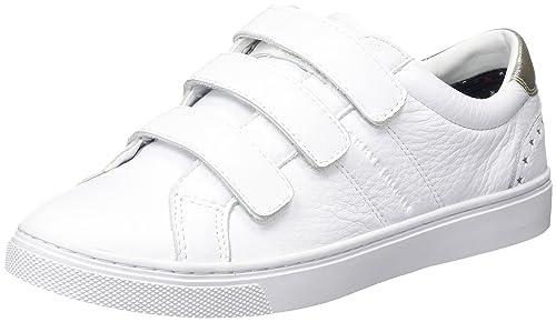 color atractivo diseño atemporal chic clásico Tommy Hilfiger V1285enus 17a1, Zapatillas para Mujer, Blanco ...