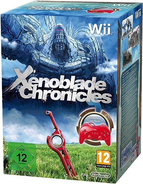 Wii XENOBLADE CHRONICLES + MANDO CLASICO PRO ROJO: Amazon.es: Videojuegos