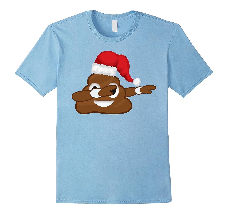 Poop Emoji Dabbing Christmas T-Shirt - Funny Poop Dab Tshirt-ANZ