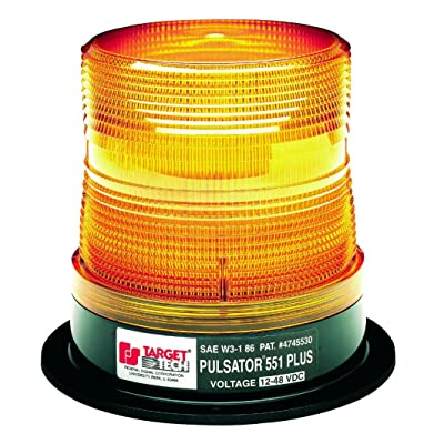 Federal Signal 211684-02 Pulsator 551 Plus Amber High-Profile Strobe Beacon (10-Joule, Double Flash, Magnetic Mount): Automotive