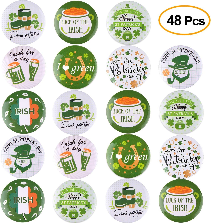 TUPARKA 35 Pcs Saint-Patrick En Caoutchouc Bracelets Shamrock Irlandais Silicone Bracelet Bracelet pour La F/ête Des Enfants Des Cadeaux D/école Fournitures
