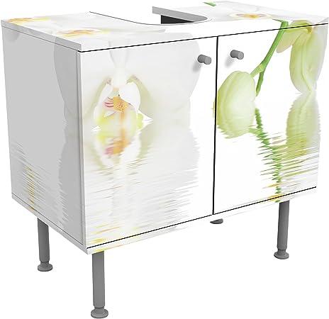 Meuble sous vasque design Wellness orchid 60x55x35cm, petit ...