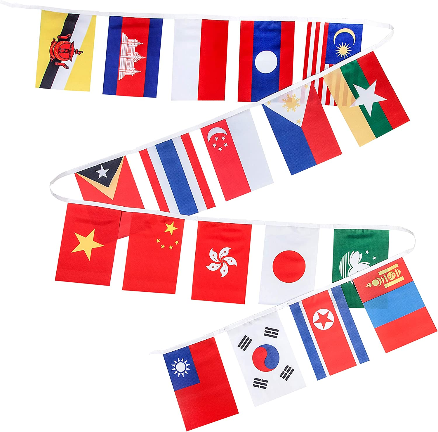 8 Flags Hong Kong 12x18 Bunting String Flag Banner