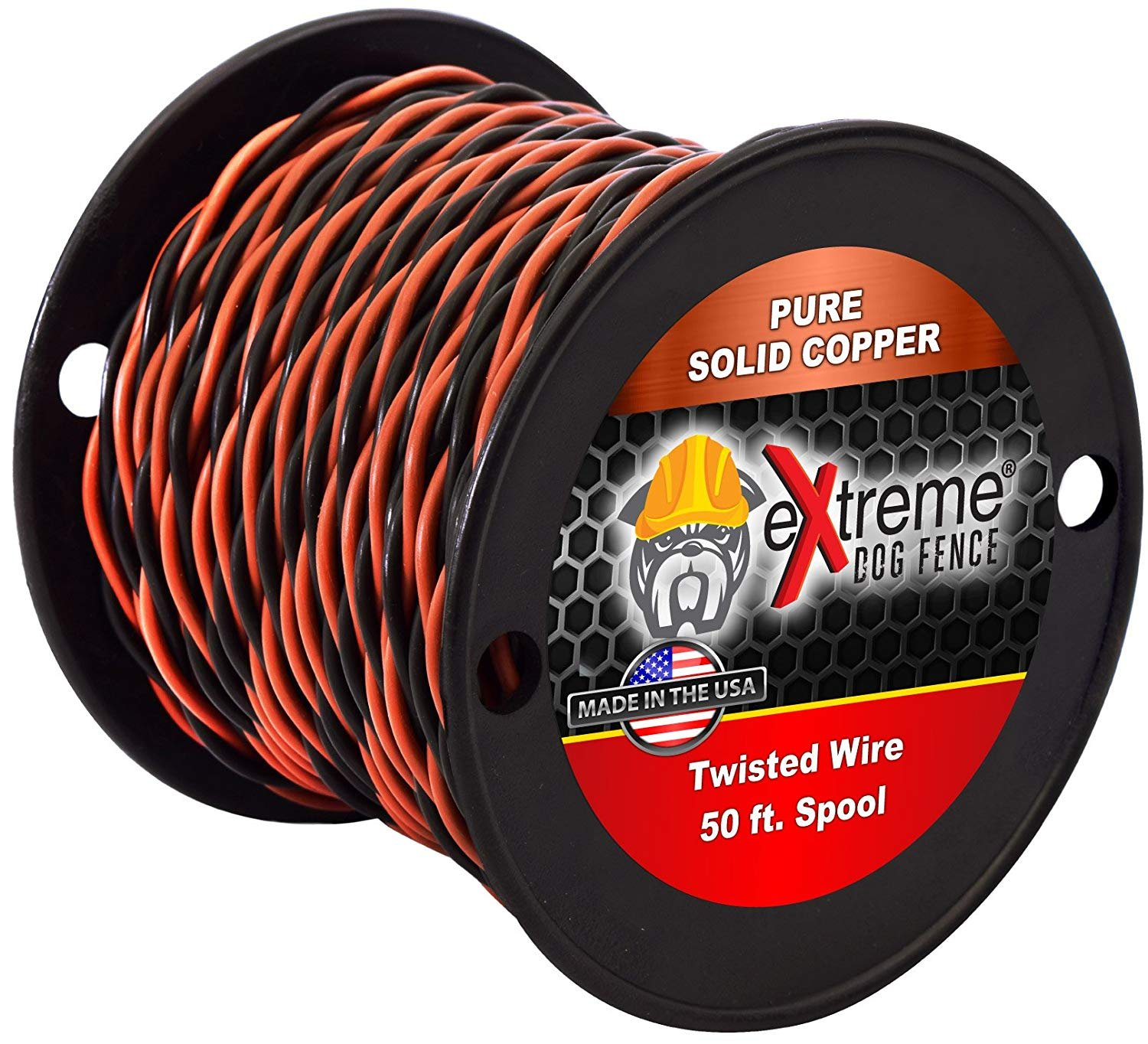 16 Gauge Twisted Electric Dog Fence Wire - Solid Core Copper - Multiple Lengths (50 Feet) by Extreme Dog Fence