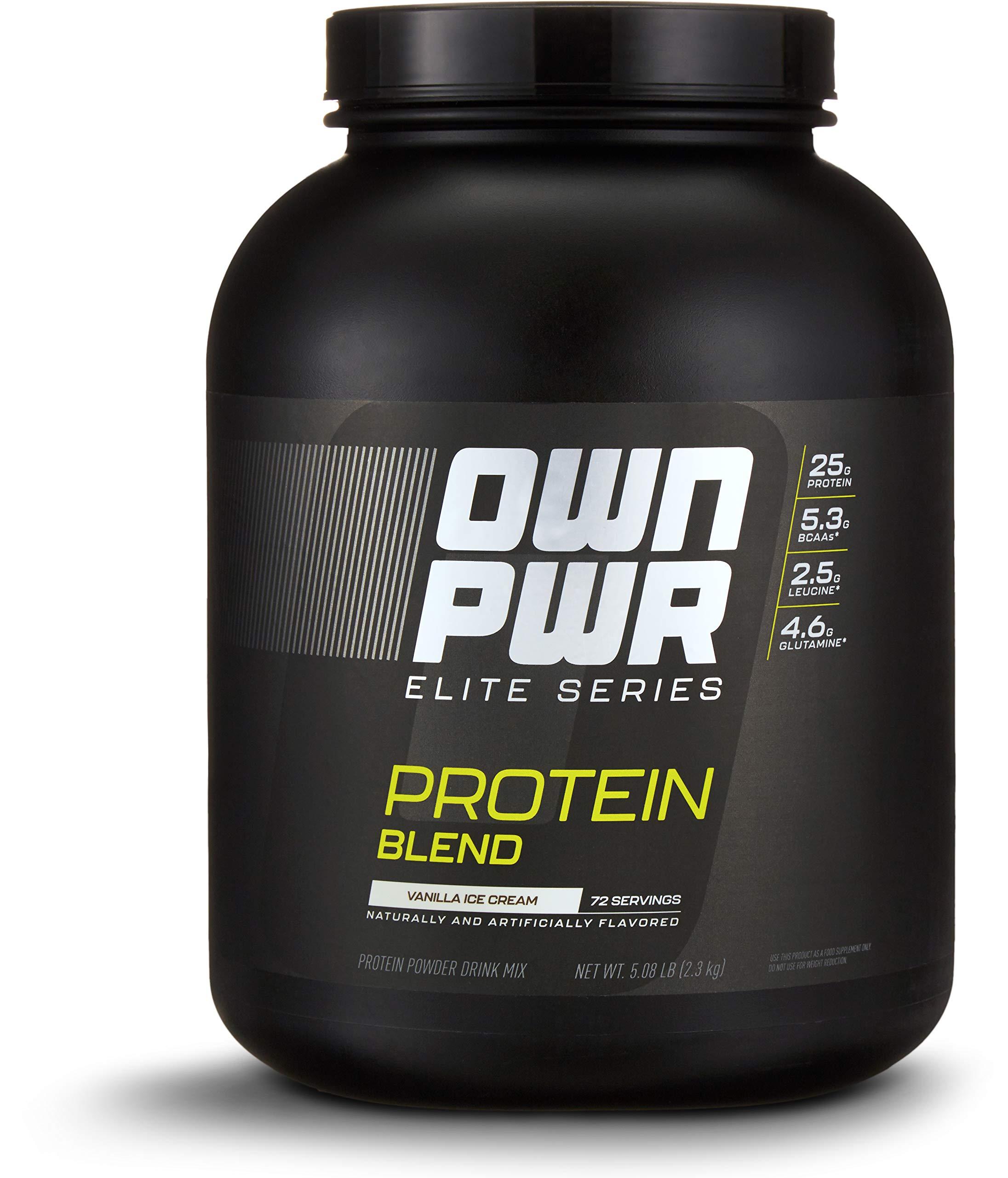 OWN PWR Elite Series Protein Powder, Vanilla Ice Cream, 5 lb, Protein Blend (Whey Isolate, Milk Isolate, Micellar Casein) by OWN PWR