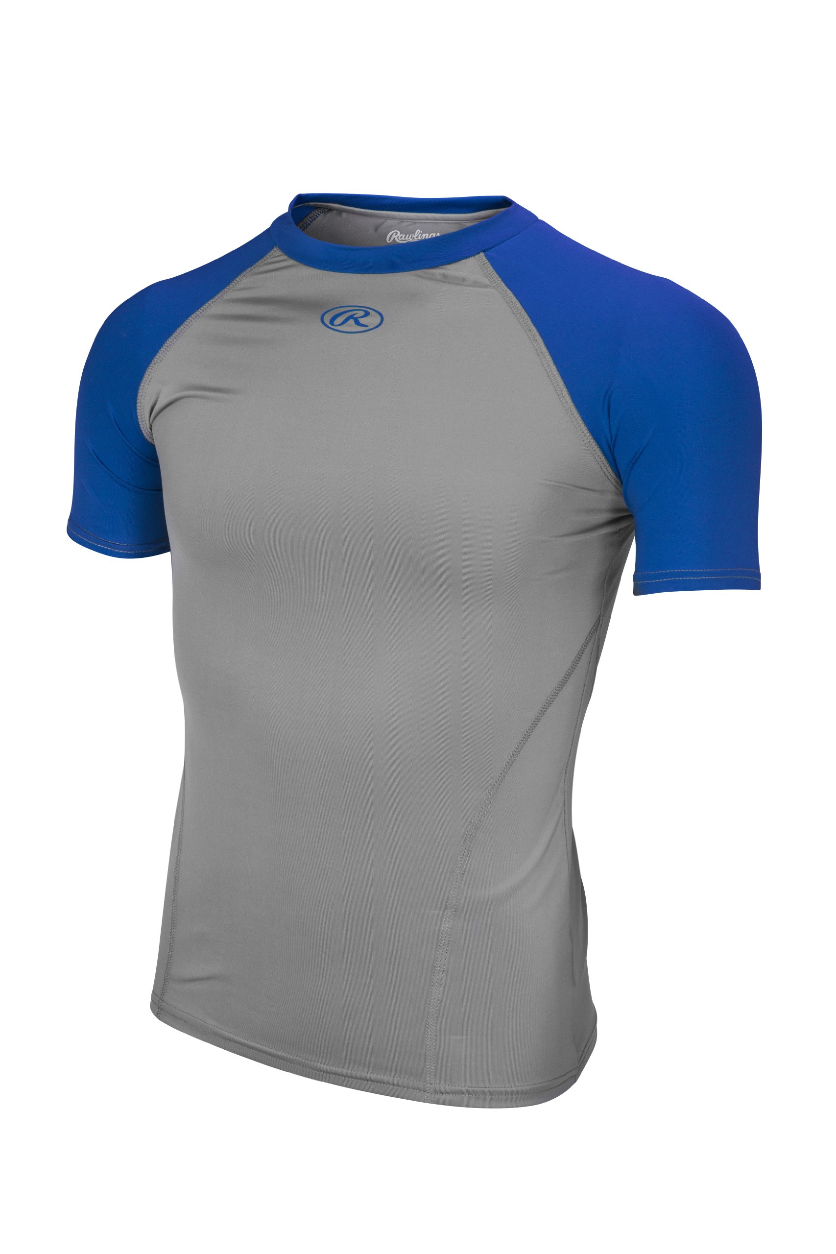 Rawlings Youth Compression Tee, Royal, Large