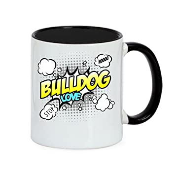 Französische küche comic  Hund Tasse COMIC - BULLDOG englische französische french english ...