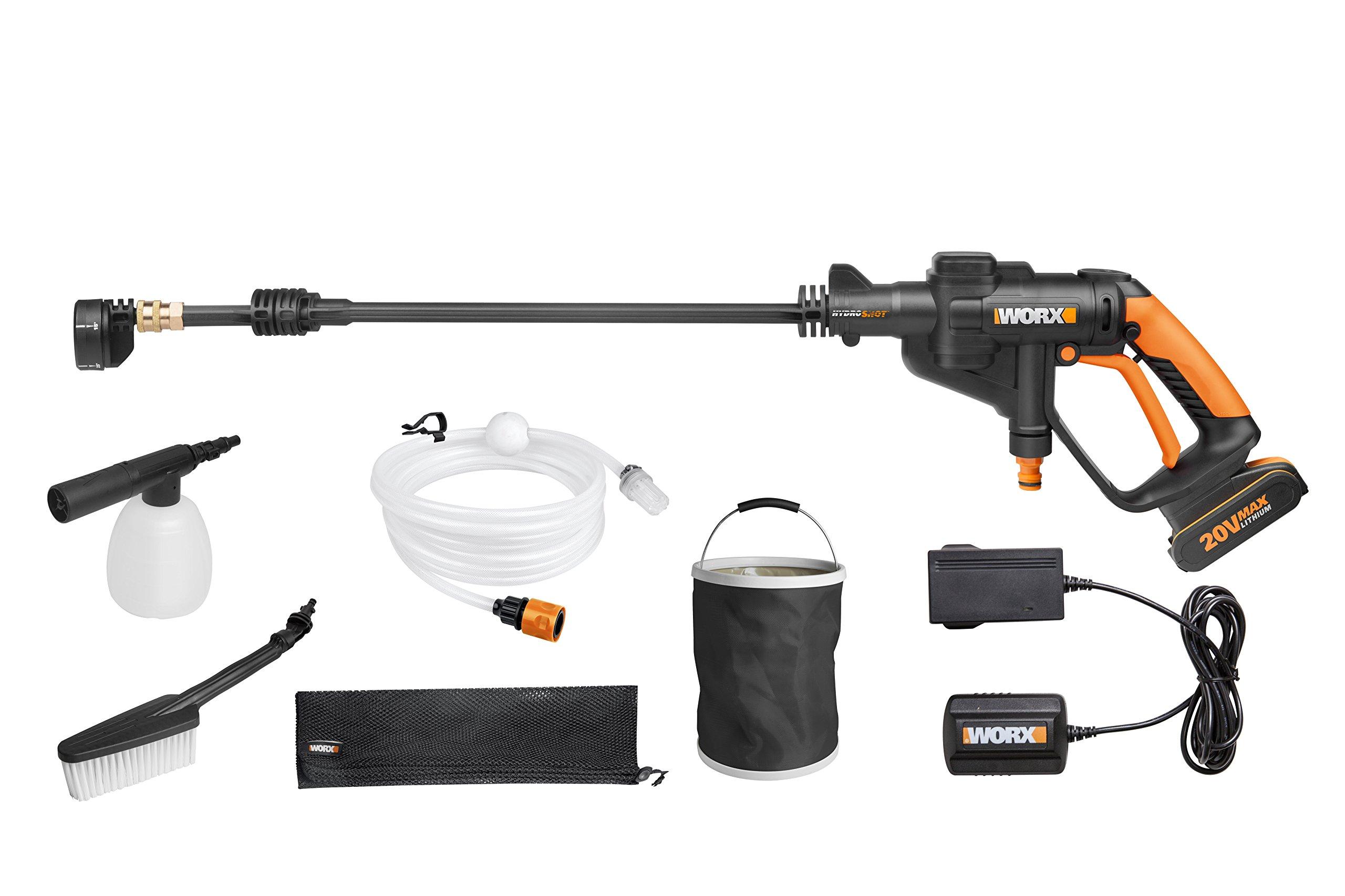 worx wg629e 1 hydroshot portable battery pressure cleaner. Black Bedroom Furniture Sets. Home Design Ideas
