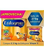 Leche de Crecimiento para Niños mayores de 12 Meses, Enfagrow Premium Etapa 3, En Polvo Paquete especial con 2200 gramos + Lata de 375 g Gratis