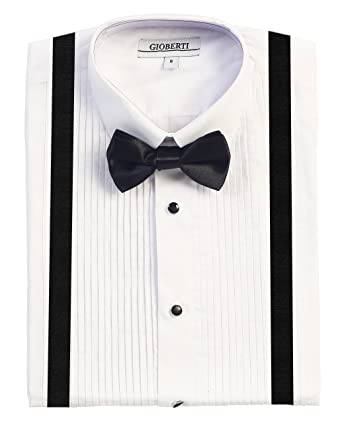 Amazon Gioberti Boys Tuxedo Dress Shirt With Bow Tie