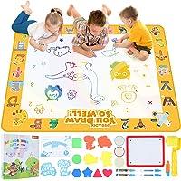 Peradix Water Doodle Mat voor Kinderen met 5 Pennen,100x80CM Water Canvas voor Kinderen Peuters Jongens Meisjes van 3-8…