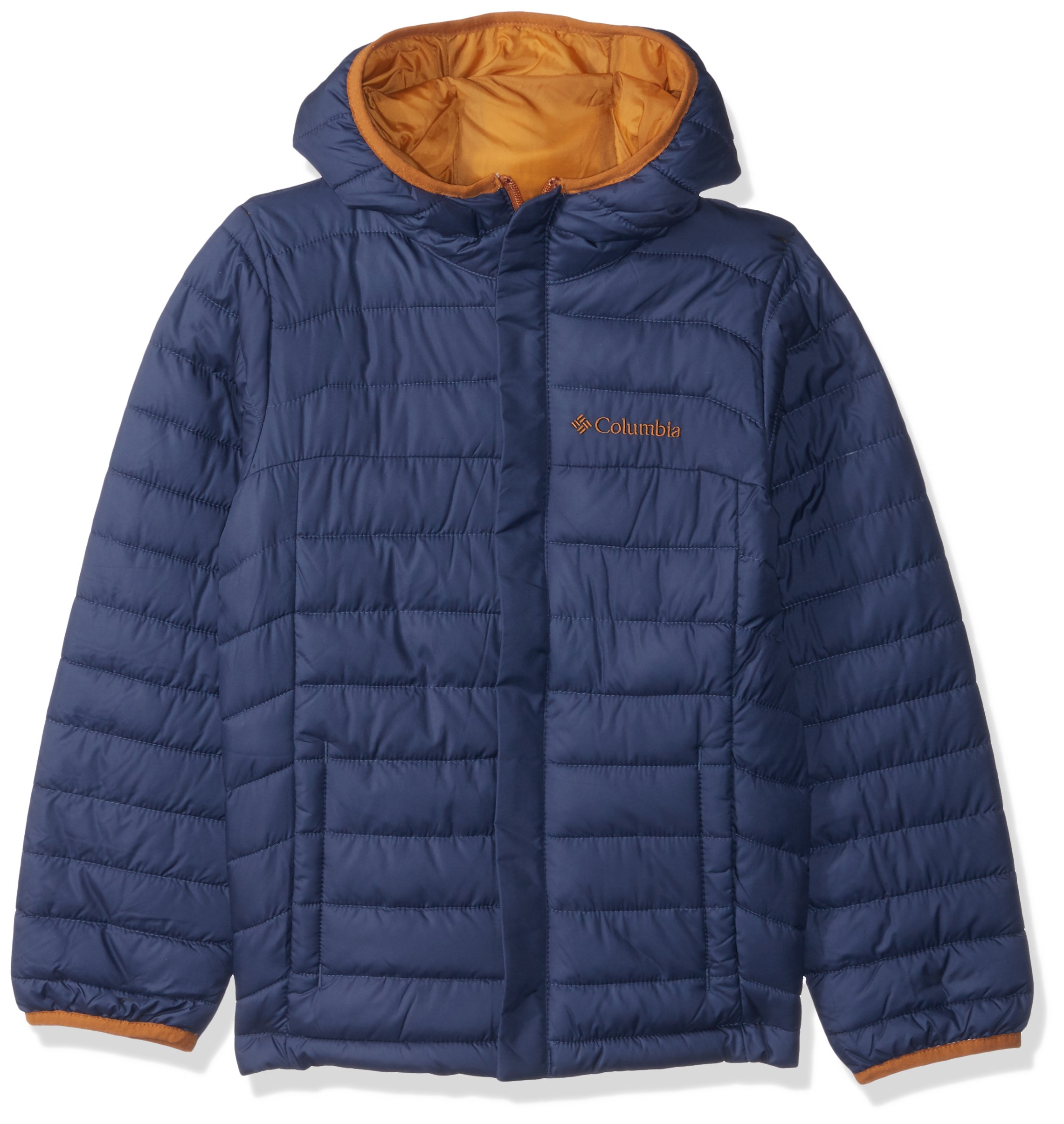 Columbia Boy's Little Powder Lite Puffer Water-Resistant Insulated Jacket, Dark Mountain, X-Small