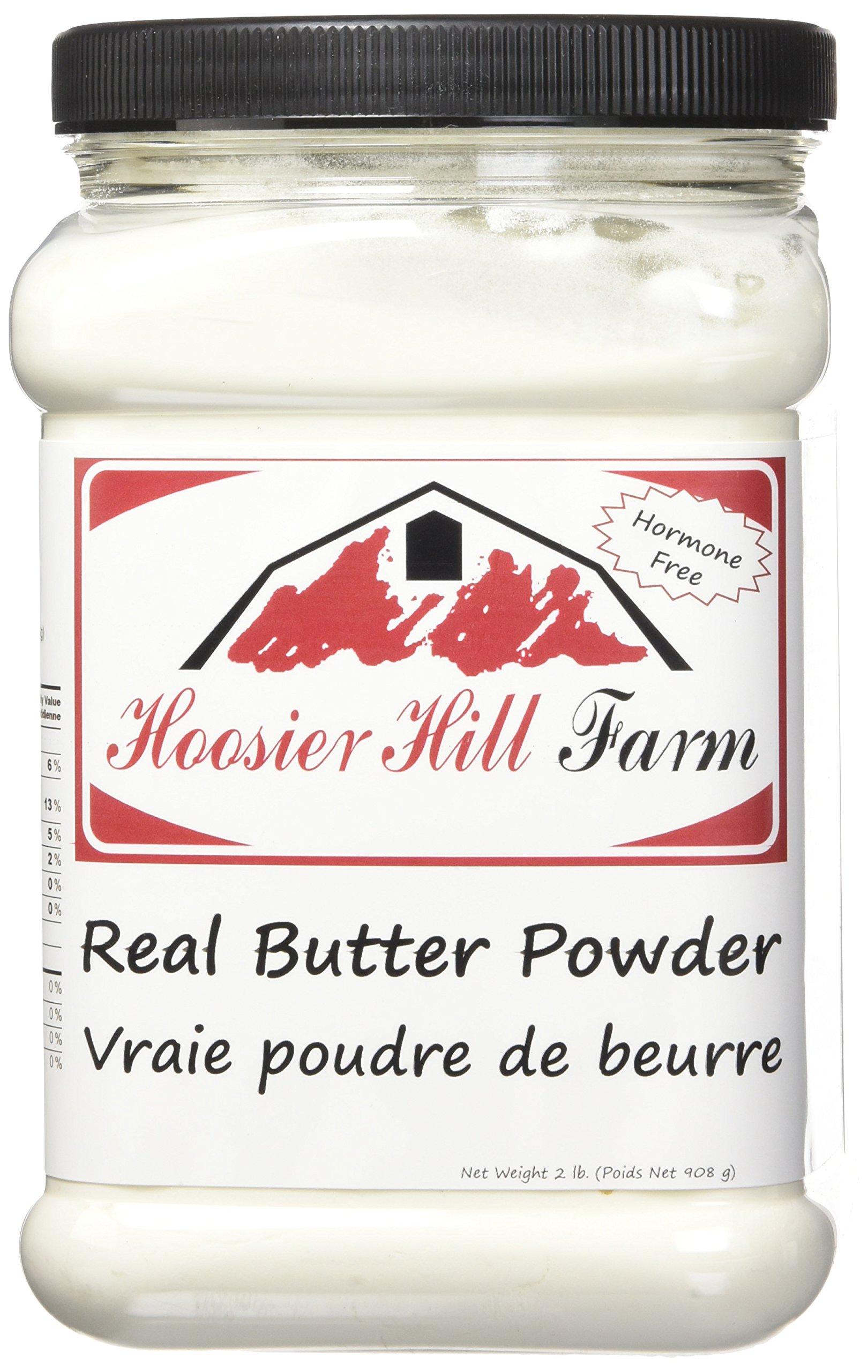 Hoosier Hill Farm Real Butter powder, Gluten and Hormone.free, 2 lbs