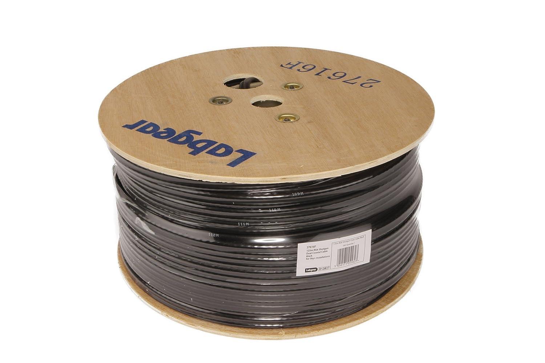 Alta calidad marca 125 m Cable de satélite doble (negro): Amazon.es: Electrónica
