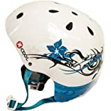 Medium White with Flowers XCOOL Helmet