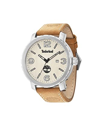 d5cb4fe13cb Image Unavailable. Image not available for. Color: Timberland 14399XS-07  Mens Pinkerton Tan Leather Strap Watch