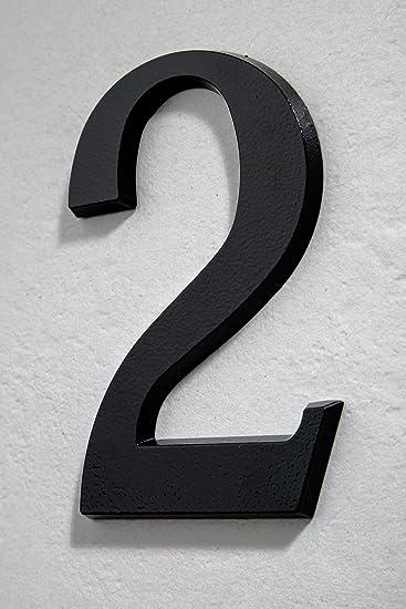 Hausnummer Anthrazit huber hausnummer nr 2 aluminium pulverbeschichtet anthrazit