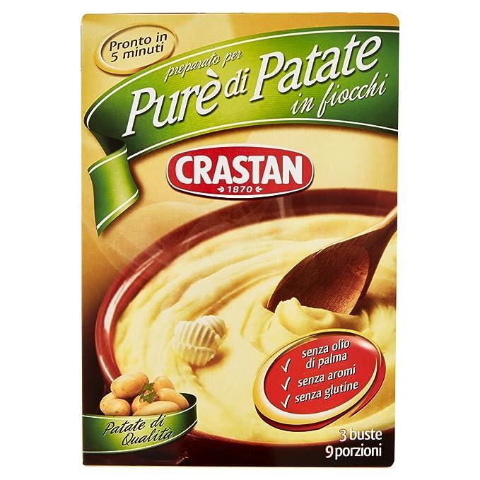 5 opinioni per Crastan- Preparato per Pure' di Patate in Fiochi, senza Aromi- 225 g 3 buste-