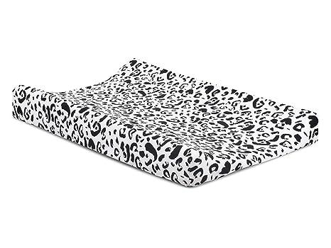 Jollein - Funda para colchón cambiador, 50 x 70 cm, diseño de leopardo,