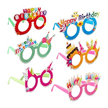 Relaxdays Gafas de Fiesta para Cumpleaños, Accesorio Divertido, Decoración Happy Birthday, Plástico-Papel, Multicolor, (10024250)