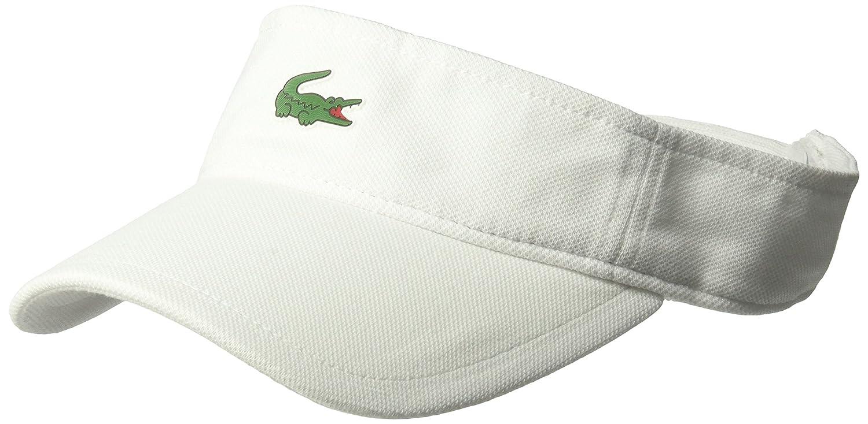 47fbc9b7241 Lacoste Men s Sport Pique Croc Visor White One Size RK3553-51