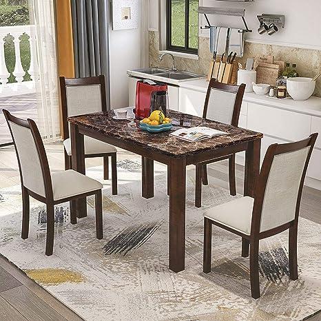 Amazon.com - Harper & Bright Designs Dining Kitchen Table ...