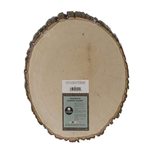 Christmas Tablescape Décor - Basswood Country Thick Round Wood Plaque by Walnut Hollow
