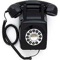 GPO 746 Retro Wall Push Button Telephone Black