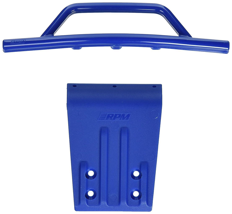 RPM Parachoques Delantero y Placa Deslizante para 2 WD Slash, Nitro Slash, Azul